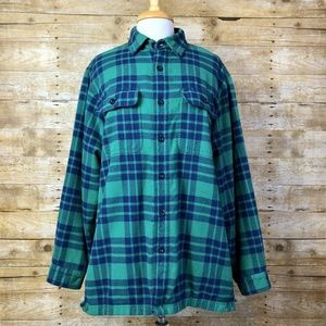 LL Bean Tradition Fit Fleece Lined Plaid Flannel
